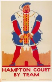 Vintage London underground poster - Hampton Court